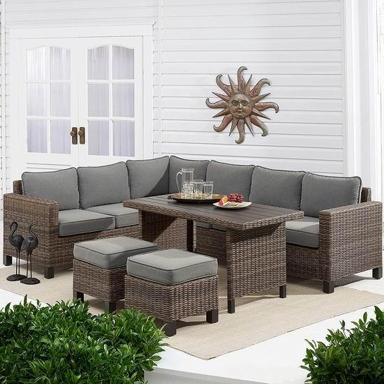 抢超级Bug价!TK Classics 全场庭院软垫藤条沙发套装0.5折起!$3825沙发仅需$211!