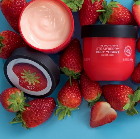 The Body Shop草莓酸奶身体乳 200毫升 13.65加元,原价 16加元