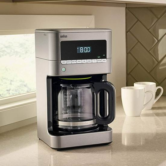 历史最低价!Braun 德国博朗 KF7170SI BrewSense Drip 可编程 12杯量滴滤式不锈钢咖啡机5.5折 99.99加元包邮!