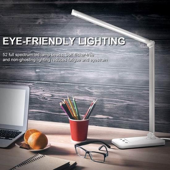 Duansun 可调亮度LED护眼台灯 28.99加元!