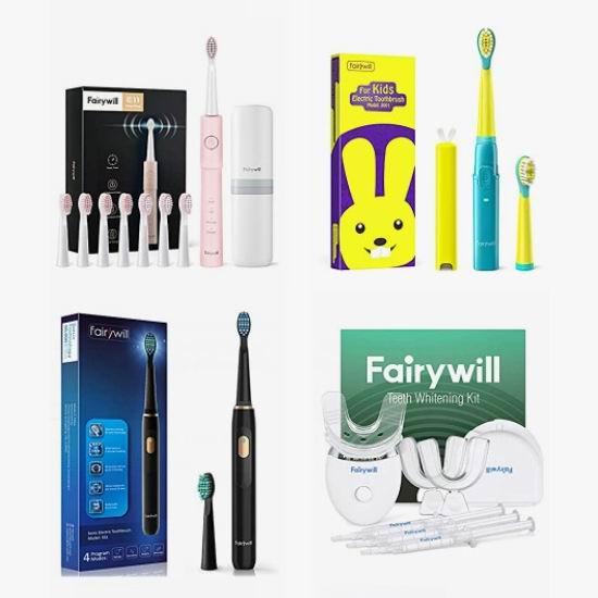 金盒头条:精选多款 Fairywill 成人儿童声波震动电动牙刷、牙齿美白套装7折起,低至18.86加元!仅限今日!