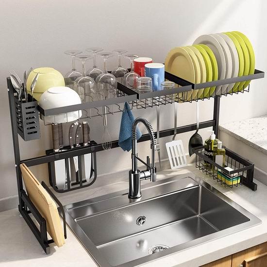 SNTD 可调节水槽上餐具沥水架 93.47加元包邮!