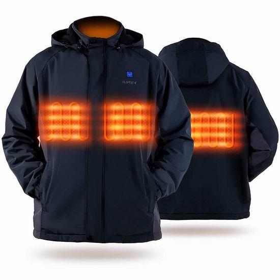 白菜价!历史新低!IUREK 充电式 男女同款 电热保暖夹克(S码)3.1折 49.99加元包邮!免税!