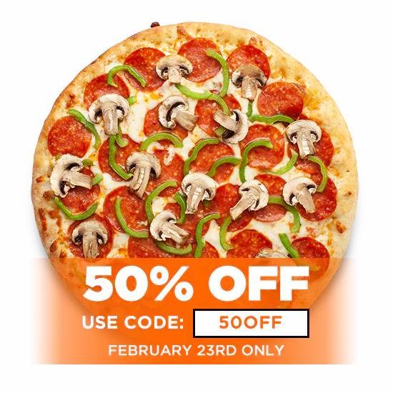 Pizza Pizza连锁店,全场披萨5折,仅限2月23日!