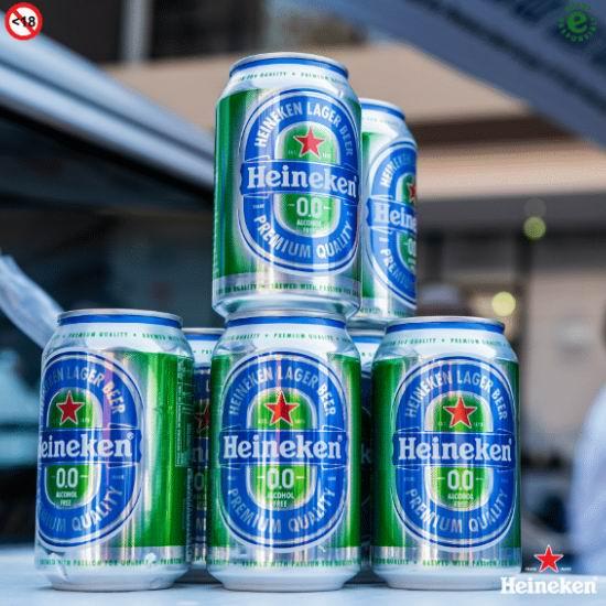 厂家免费赠送 Heineken 喜力 0.0 无醇啤酒礼包!