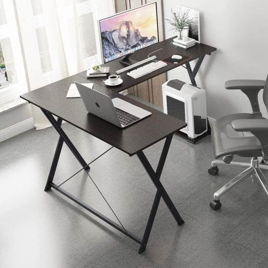 SDHYL 62英寸 L型电脑桌/书桌/办公桌4.2折 67.99加元包邮!