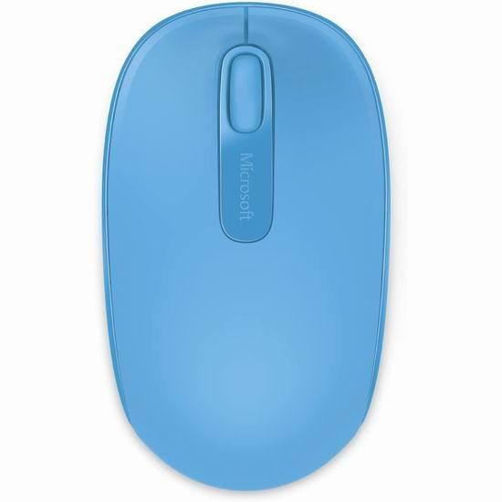 历史最低价!Microsoft 微软 1850 蓝色无线便携鼠标 9.95加元!
