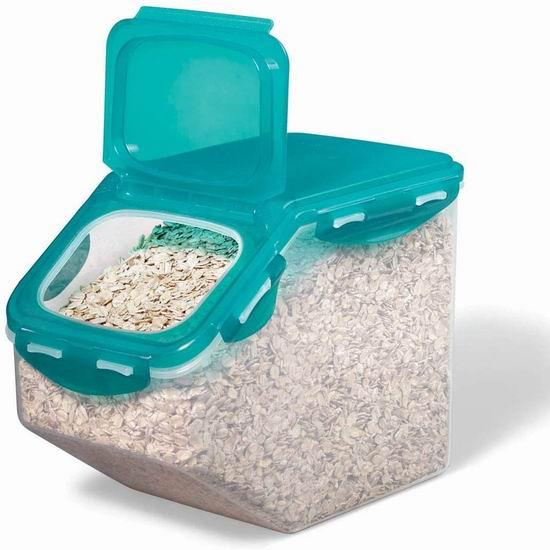 Starfrit 094592-002-TEAL翻盖食物储物盒 5升 9.97加元,原价 12.55加元