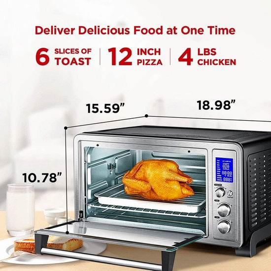 历史新低!Toshiba 东芝 AC25CEW-SS 九合一 数字控制 空气对流 不锈钢烤箱6折 89.99加元包邮!