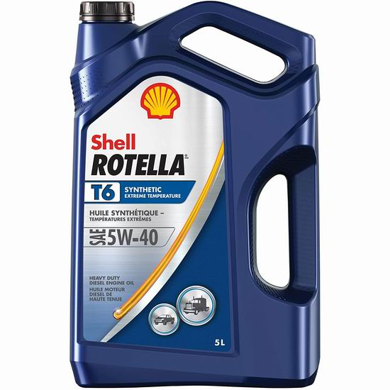 历史新低!Shell 壳牌 Rotella T6 5W-40 柴油专用机油(5升)35.97加元包邮!