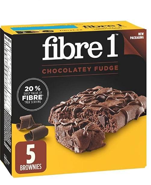 Fibre 1 90卡路里巧克力软糖布朗尼甜点 2.35加元,多种味道可选!