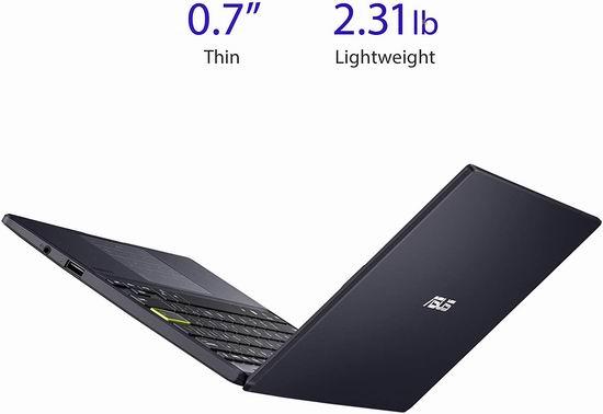 ASUS 华硕 L210 11.6英寸超轻薄笔记本电脑(4GB, 64GB) 230.22加元包邮!上网课、浏览网页实惠之选!