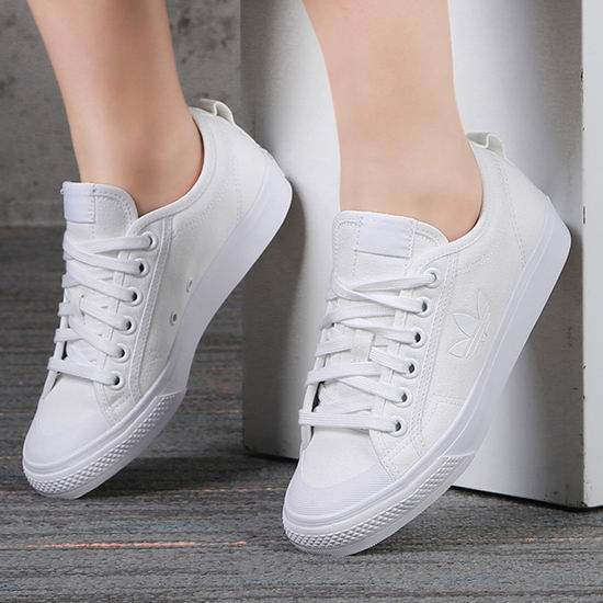 adidas Originals Nizza Trefoil 三叶草 女式经典小白鞋5折 45加元包邮!码齐!