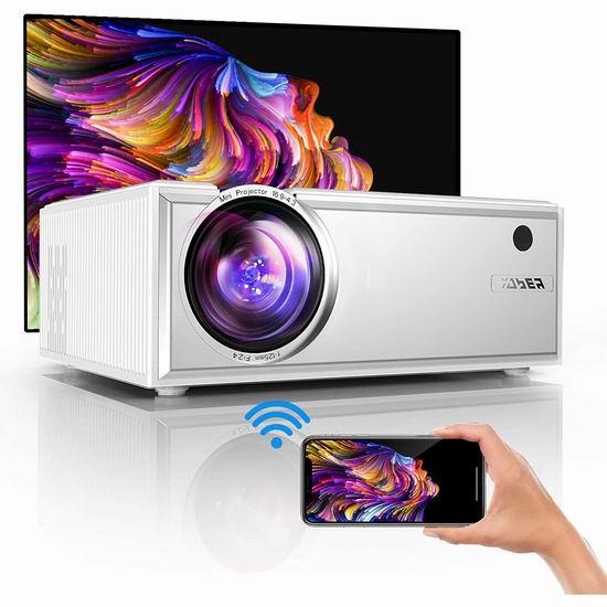 历史新低!YABER Y61 6000流明 原生720P WiFi无线 LED家庭影院投影仪4.8折 81.99加元包邮!