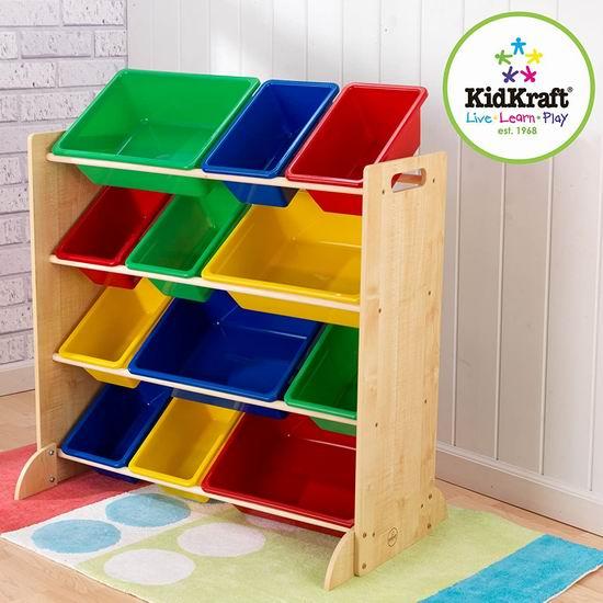 历史最低价!KidKraft 儿童玩具收纳架4.6折 59.97加元包邮!