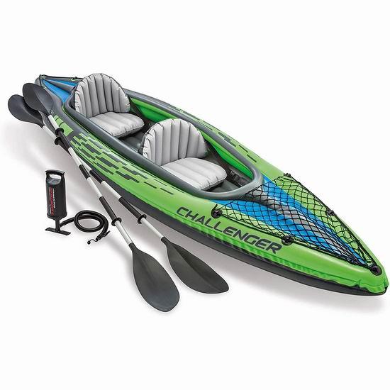 补货!Intex 挑战者 K2 Kayak 二人充气独木舟套装5.9折 165.69加元包邮!