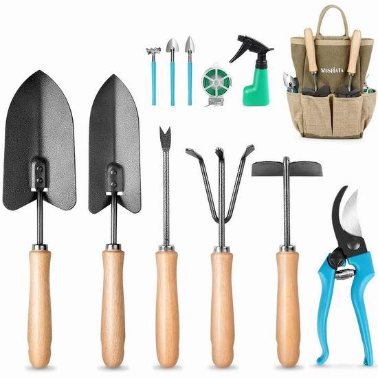 历史新低!MOSFiATA 庭院园艺工具12件套6折 29.99加元包邮!