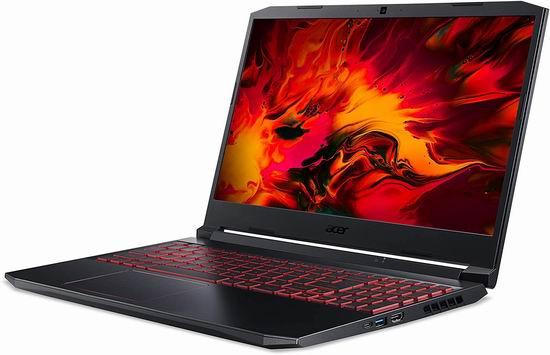 历史新低!Acer 宏碁 Nitro 15.6英寸游戏笔记本电脑(16GB, 512GB SSD, GTX 1650Ti) 1158.98加元包邮!比Costco促销还便宜31加元!