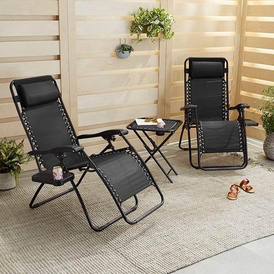 午休神器!AmazonBasics 零重力躺椅3件套 138.97加元包邮!3色可选!