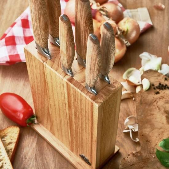 双立人旗下 Ballarini 巴拉利尼 意大利不锈钢刀具7件套2.3折 116.99加元包邮!送价值110加元刀叉勺20件套!买多送多!