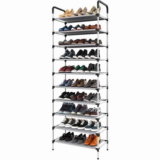 UDEAR 10层1.92米大容量鞋架 29.99加元!