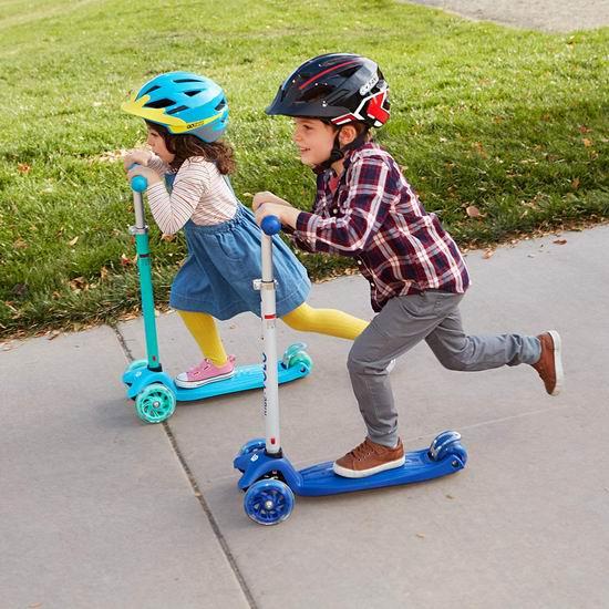 RideVOLO K01 炫酷LED 儿童三轮滑板车 38.49加元包邮!3色可选!