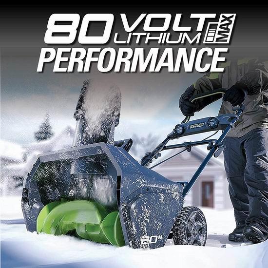 历史最低价!Greenworks PRO 20英寸 80伏 充电式无绳铲雪机 399加元包邮!