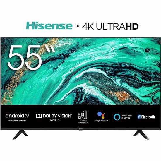 历史新低!Hisense 海信 55H78G 55英寸 AI场景 4K超高清LED智能电视 398加元包邮!