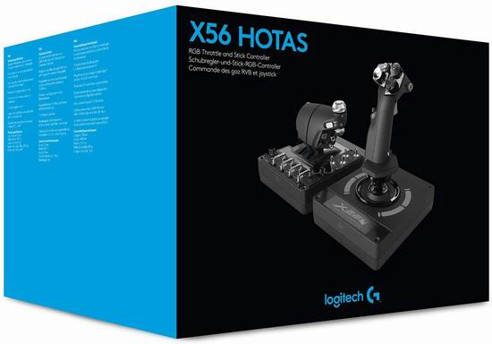 补货!Logitech 罗技 G X56 H.O.T.A.S. RGB 航天VR游戏 油门和摇杆控制器 338.99加元包邮!提供现代军事级模拟!