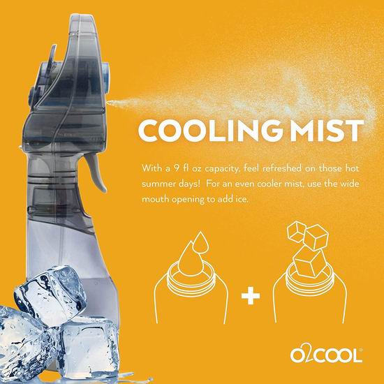历史新低!户外解暑神器 O2COOL 清凉喷雾降温保湿 便携式电风扇4折 9.98加元清仓!