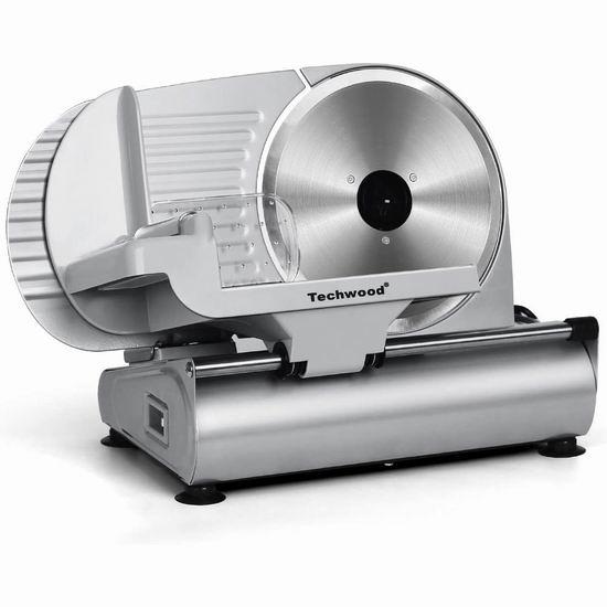 Techwood 200瓦 9英寸不锈钢切片机 116.43加元包邮!可切冻肉,火锅切肉片必备!