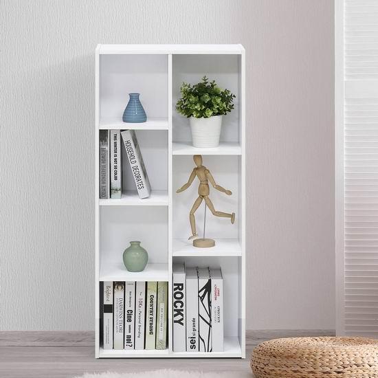 Furinno 11048WH 7格 可横放竖放 白色多用途收纳柜/书柜4.9折 55.79加元包邮!