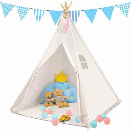 Monobeach Teepee 儿童游戏帐篷6.4折 41.99加元包邮!免税!