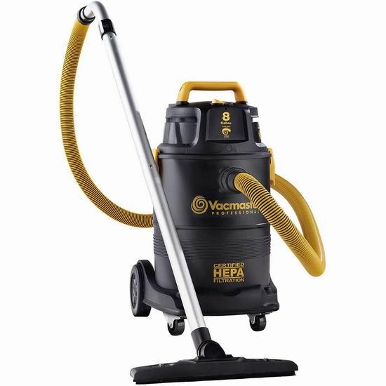 历史新低!Vacmaster Pro HEPA级过滤 8加仑 专业级干湿两用吸尘器3.8折 134.34加元清仓并包邮!