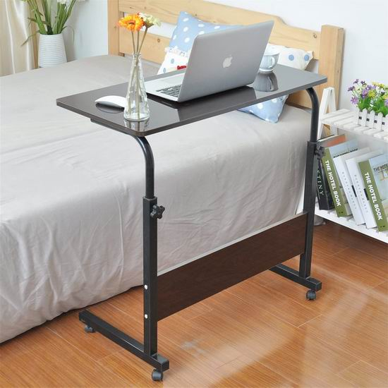 DlandHome 23.6英寸/31.4英寸 便携式可调节 床边/沙发电脑桌 49-58加元限量特卖并包邮!3色可选!