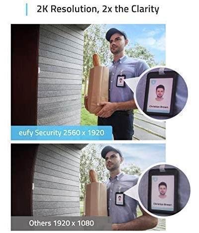 eufy Security 2K超高清 Wifi 智能可视门铃 199.99加元包邮!无需月费,性价比碾压Ring门铃!