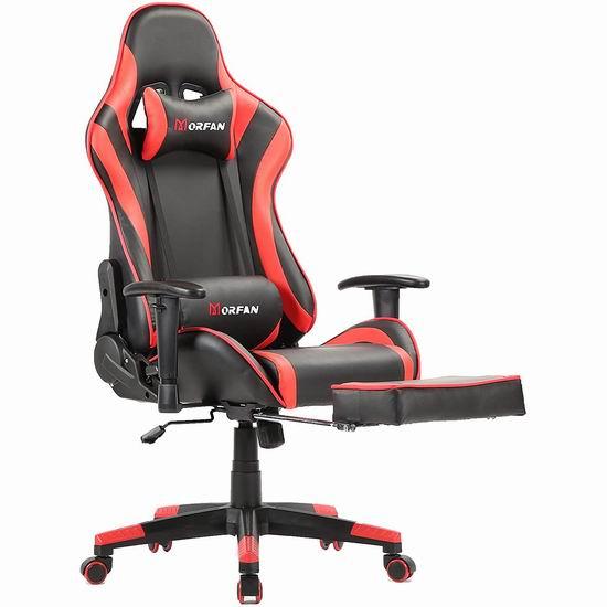Morfan 人体工学 高靠背赛车办公椅/游戏椅 178.49-186.99加元包邮!9色可选!