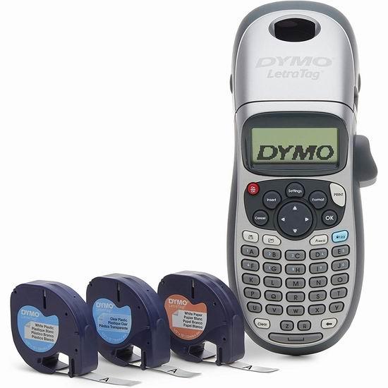 DYMO 达美 LetraTag LT-100H 手持式标签打印机+3卷色带超值装 31.74加元!