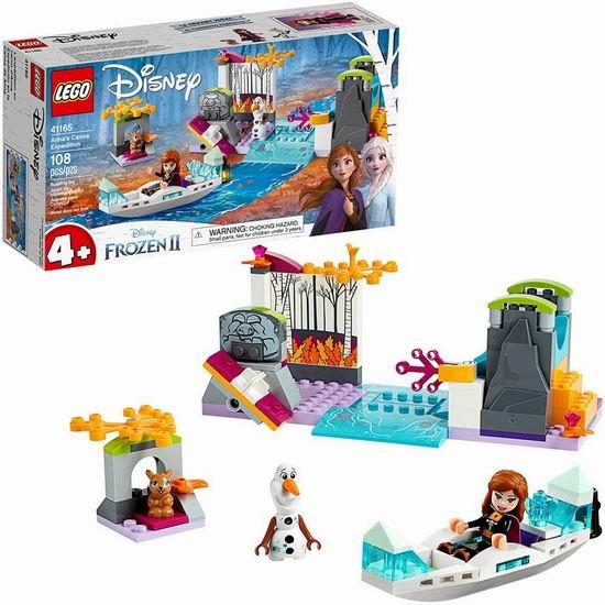 历史新低!LEGO 乐高 41165 安娜的独木舟探险6折 14.96加元!