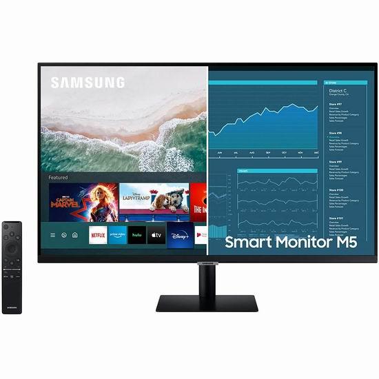 SAMSUNG 三星 M5 27英寸/32英寸 FHD 二合一 智能电视/显示器5.7折 199.98-279.98加元包邮!带Office 365套件!