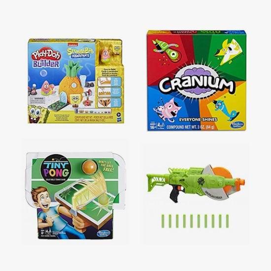 精选多款 Hasbro 孩之宝益智玩具、玩偶、玩具枪、桌游等4.7折起!