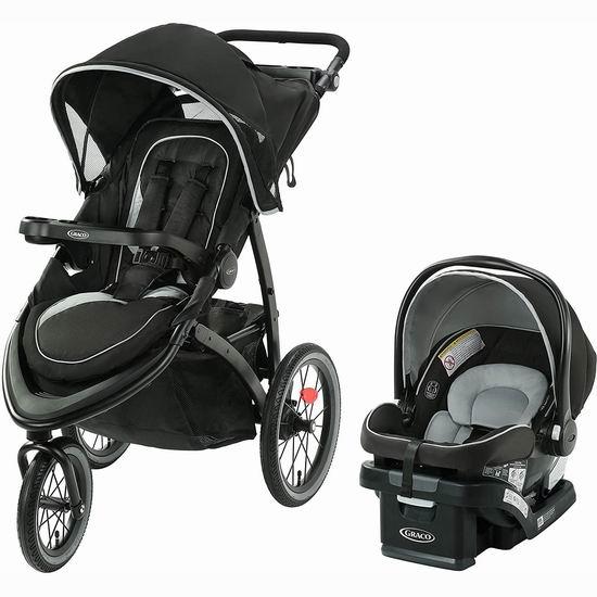 Graco FastAction Jogger Lx 大三轮婴儿推车+提篮套装 449.99加元包邮!