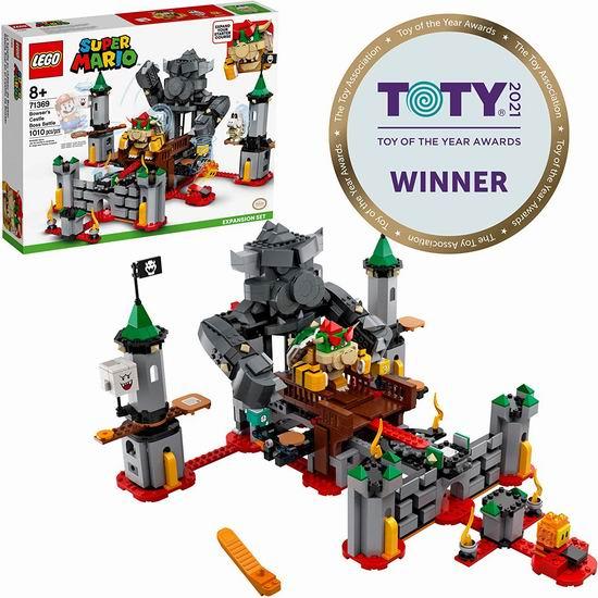 LEGO 乐高 71369 超级马里奥系列 库巴城堡大战扩展关卡(1010pcs)119.98加元包邮!荣获2021 TOTY玩具大奖!