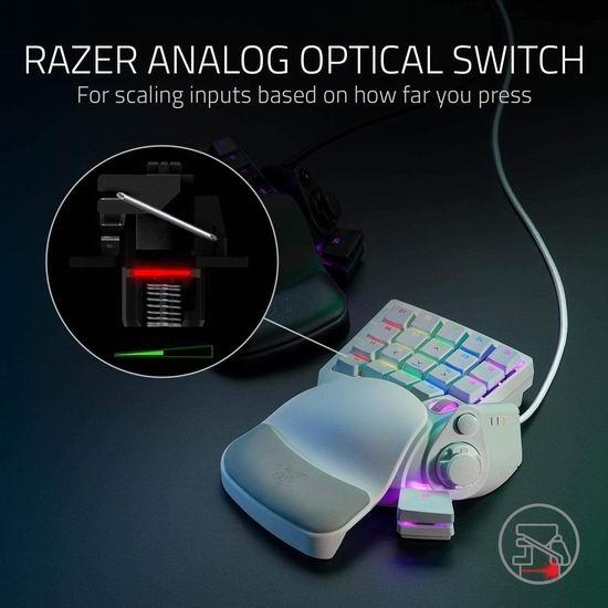 史低价!Razer Tartarus Pro 单手游戏键盘 6.4折 115.4加元,原价 179.99加元,包邮