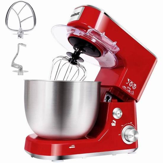 Cusimax 5夸脱 800瓦 立式多功能搅拌机/厨师机 136.39加元限量特卖并包邮!3色可选!