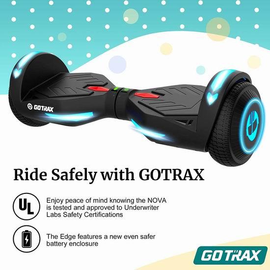 历史新低!GOTRAX NOVA 双电机 体感平衡车5.9折 136.49加元包邮!2色可选!