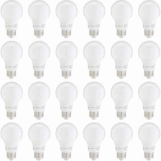 历史新低!AmazonBasics A19 60瓦等效 日光色 LED节能灯24件套 29.82加元!