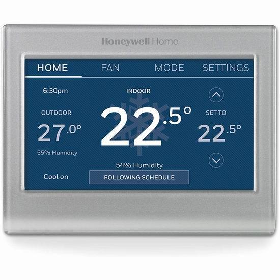 历史新低!Honeywell RTH9585WF1012/W Wi-Fi 彩色触摸屏 家用智能温控器 150.21加元包邮!