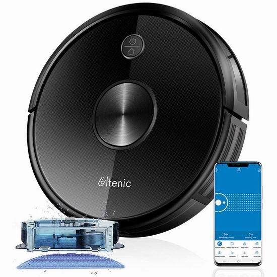 历史新低!Ultenic D5 2200Pa Max 超强吸力 WiFi智能扫地机器人5.6折 169.15加元限量特卖并包邮!