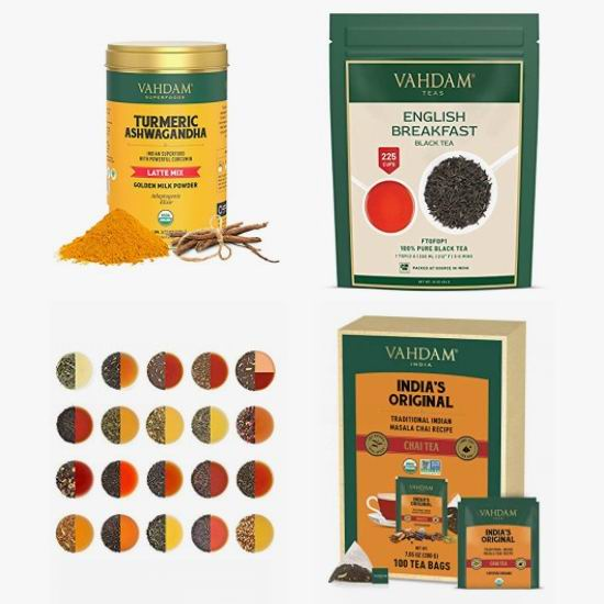金盒头条:精选多款 Vahdam 绿茶、抹茶、凉茶、红茶等6折起!